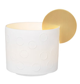 Raeder Theelicht met gouden zon op de rand medium dia:7cm Height:6,5cm