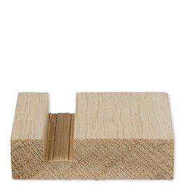 Storytiles Houder - 6,5 x 6,5 x 1,5 cm - Duurzaam eikenhout - One size fits all