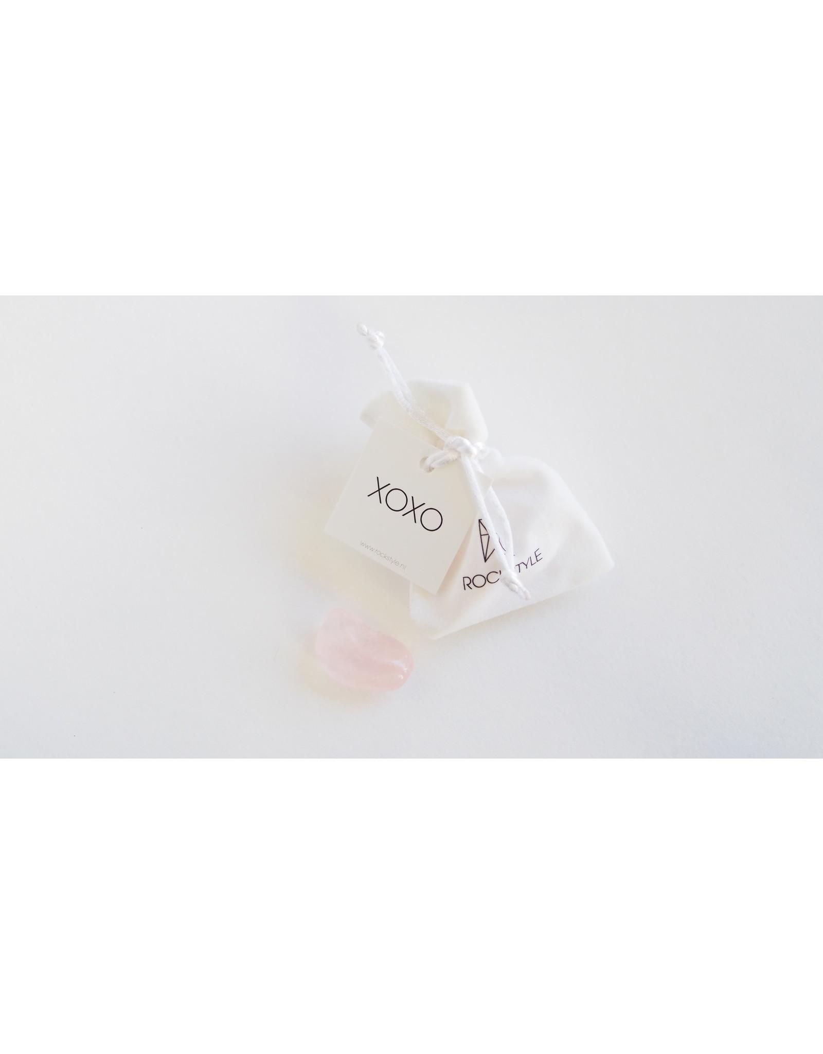 Rockstyle Knuffelsteen - XOXO  (roze kwarts)