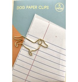 Suck UK paperclip teckel goud