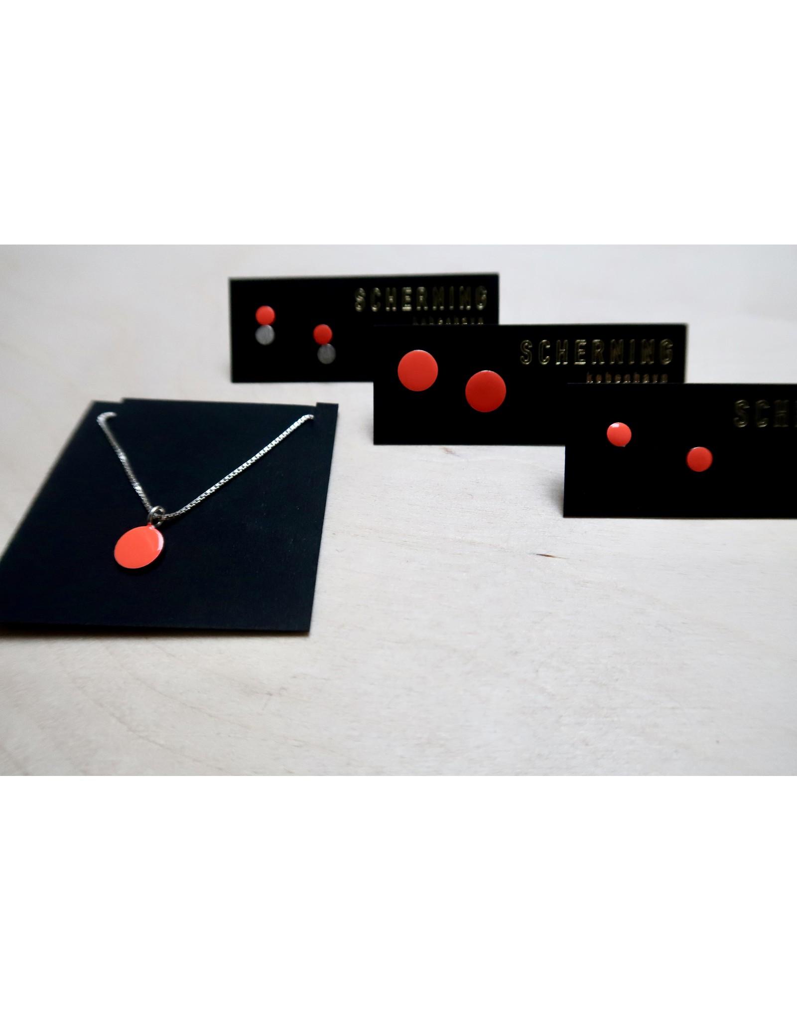 scherning oorstud minischijf fluorood 4mm zilver 925