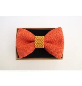 yumibow strik oranje/geel