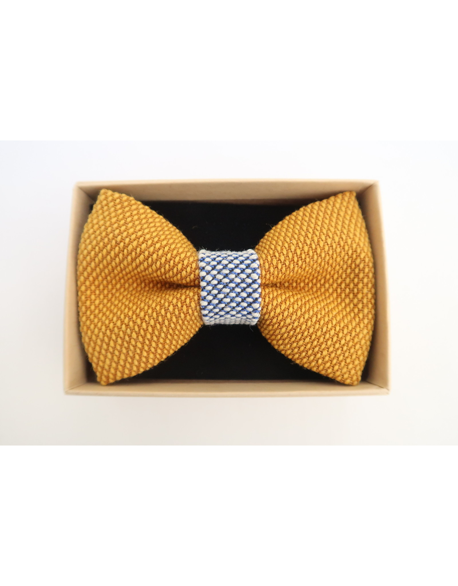 yumibow strik geel/ijsblauw