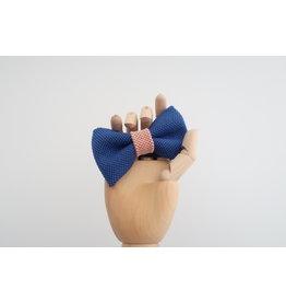 yumibow strik koningsblauw/ roze