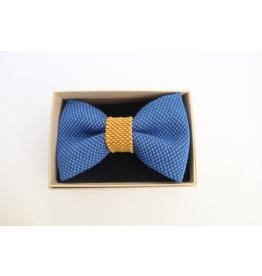 yumibow strik koningsblauw/geel