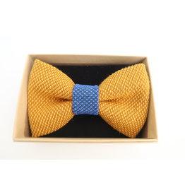 yumibow strik geel/koningsblauw