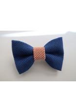 yumibow strik haarspeld koningsblauw/roze