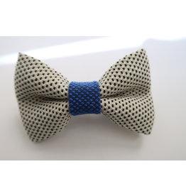 yumibow strik haarspeld wit/koningsblauw