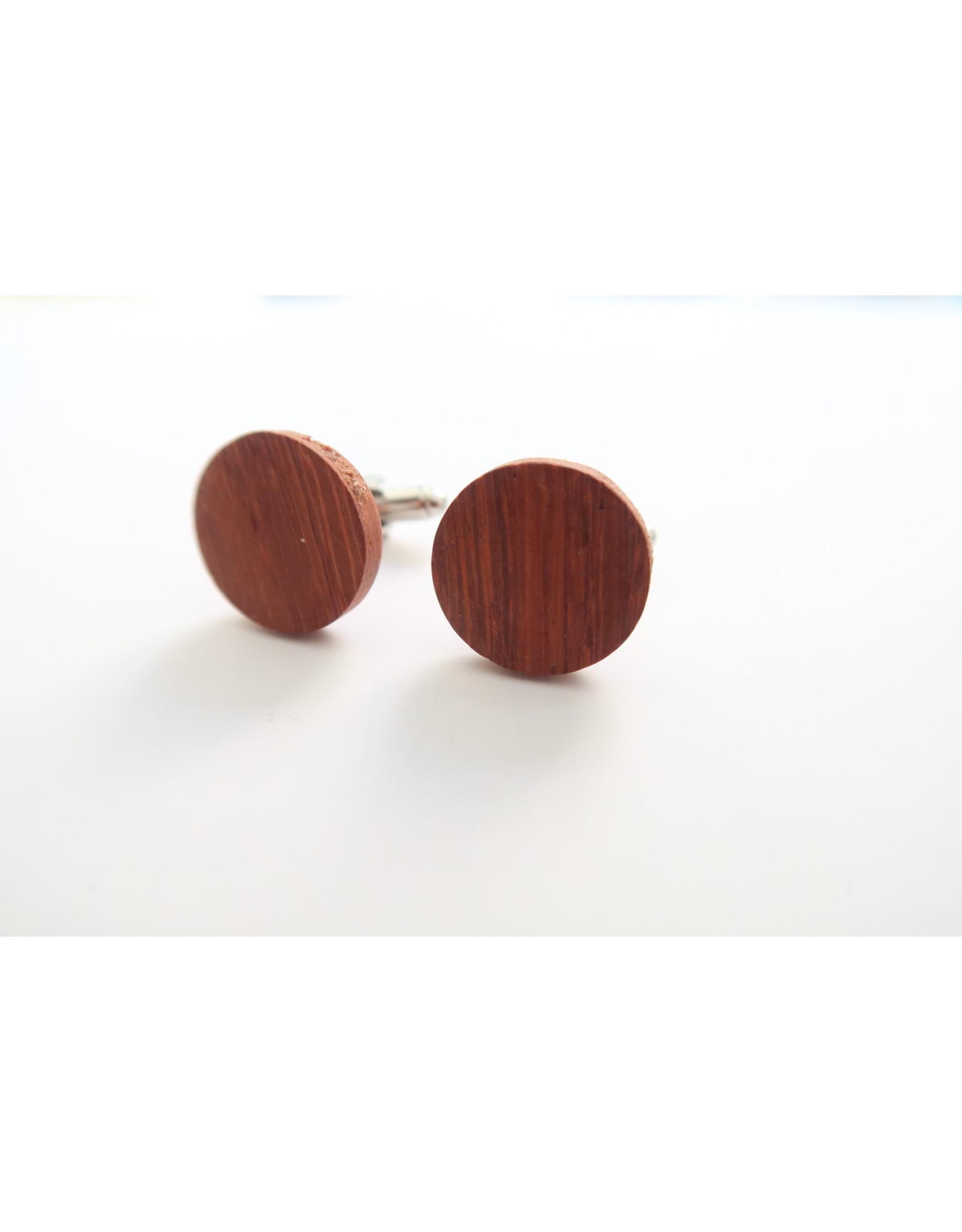 manchetknopen hout palissander