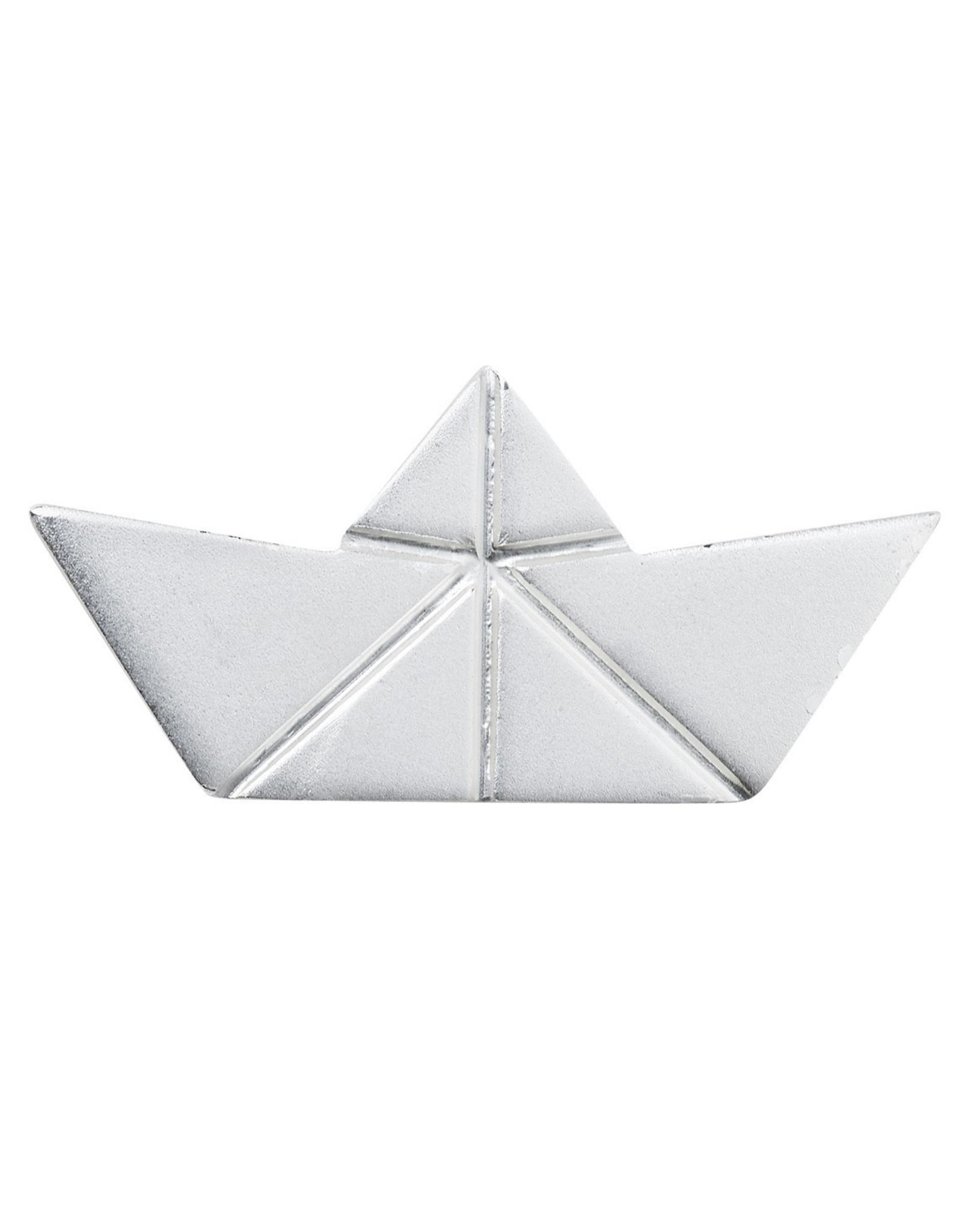 Raeder broche boot origami zilver