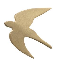 Raeder broche vogel goud