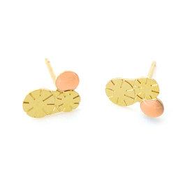Nadja Carlotti Studs Berry, gold plated Peach