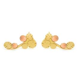 Nadja Carlotti Climbers Berry, gold plated Peach