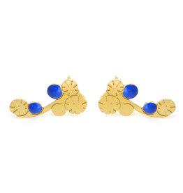 Nadja Carlotti Climbers Berry, gold plated Prusian Blue