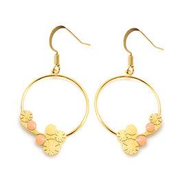 Nadja Carlotti Hoop earrings Berry, gold plated Peach