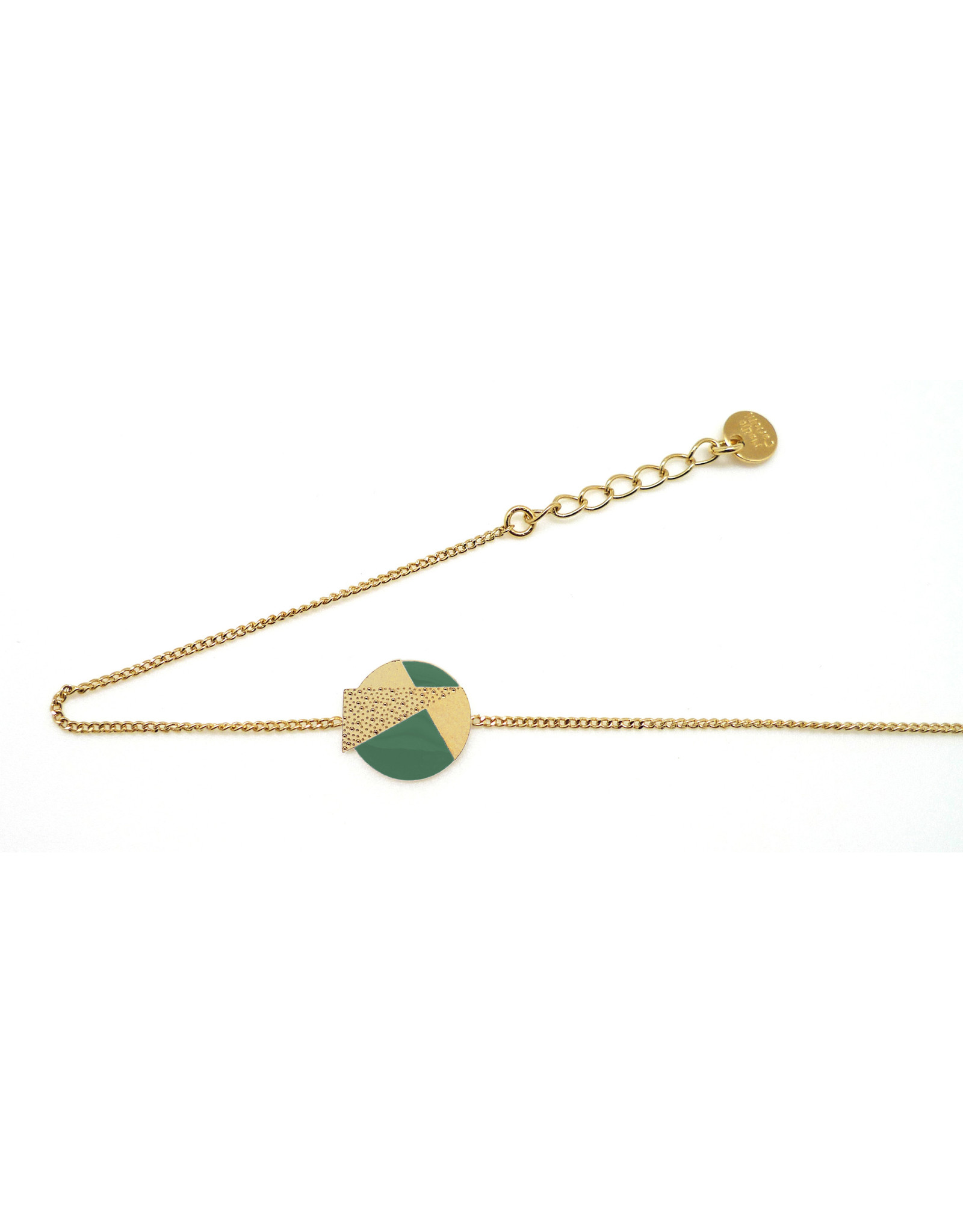 Nadja Carlotti Armband Lizzy - Groen - Messing verguld