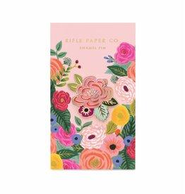 rifle paper co pin roze bloem