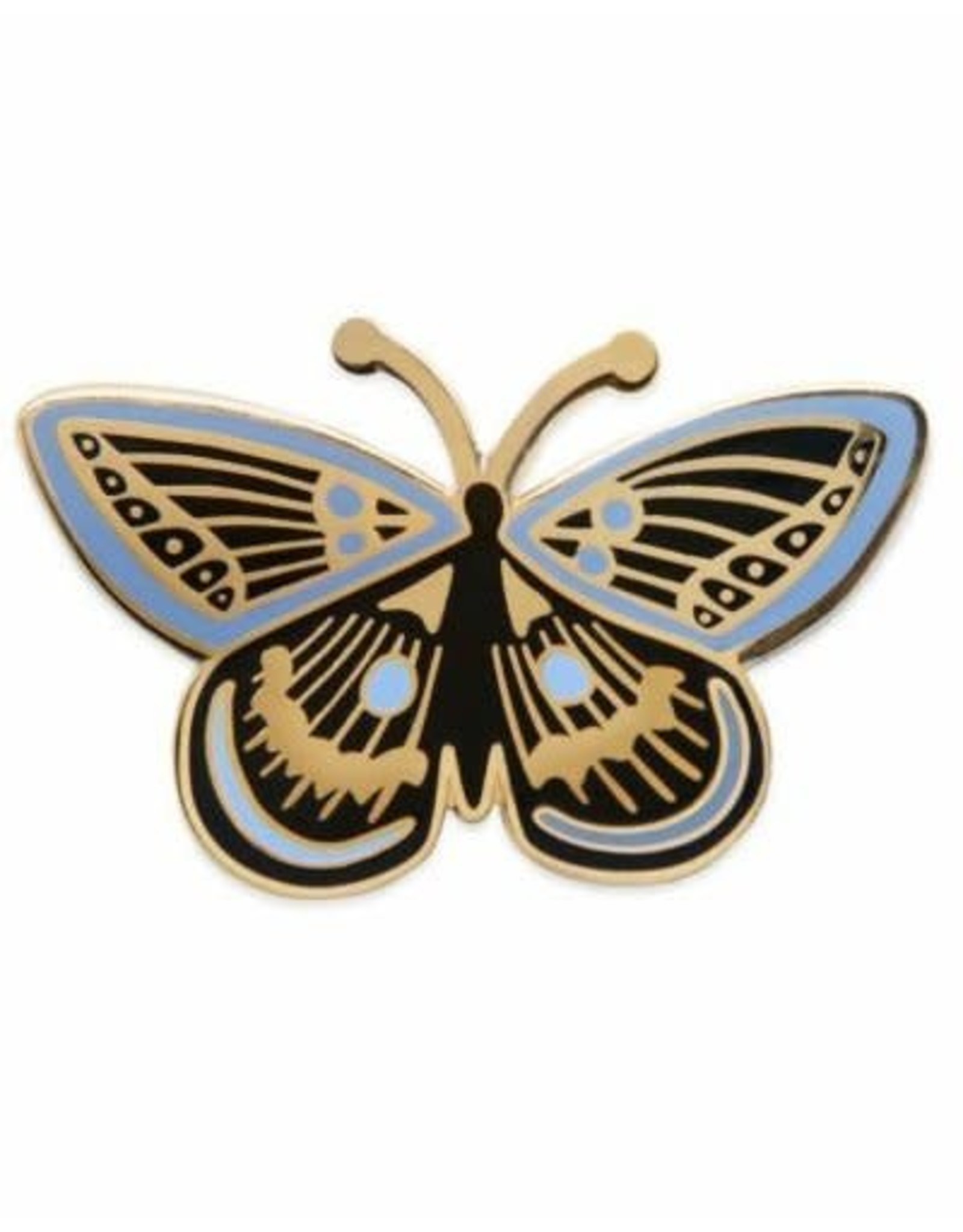rifle paper co pin vlinder zwart