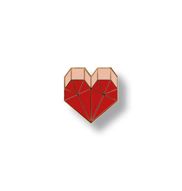 Red Fries pin heart