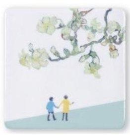 Storytiles Mini tegel/ magneet Een wandelingetje maken