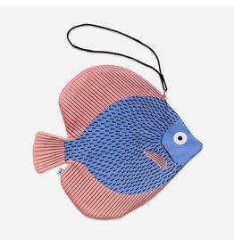 Don Fisher Ritstas - Discus - Blauw - 100% katoen - 31,5 x 29 cm