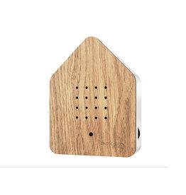 Zwitscherbox - Relaxounds Zwitscherbox Eik - Geluiden: vogelgezang van de Merel - Geluidsduur: 2 min - Geactiveerd door een bewegingsdetector - 3 AA-batterijen inbegrepen - B 11 x H 14,5 x D 3,5 cm - Ideaal voor: badkamer, gastentoilet, entree, gang, kantoor,...