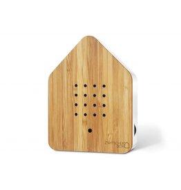 Zwitscherbox - Relaxounds Zwitscherbox Bamboe - Geluiden: vogelgezang van de Merel - Geluidsduur: 2 min - Geactiveerd door een bewegingsdetector - 3 AA-batterijen inbegrepen - B 11 x H 14,5 x D 3,5 cm - Ideaal voor: badkamer, gastentoilet, entree, gang, kantoor,...