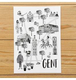 Mino Studio Print - Stadsplan Gent - A5