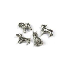 Abodee Magneet hond - 4st - zilver
