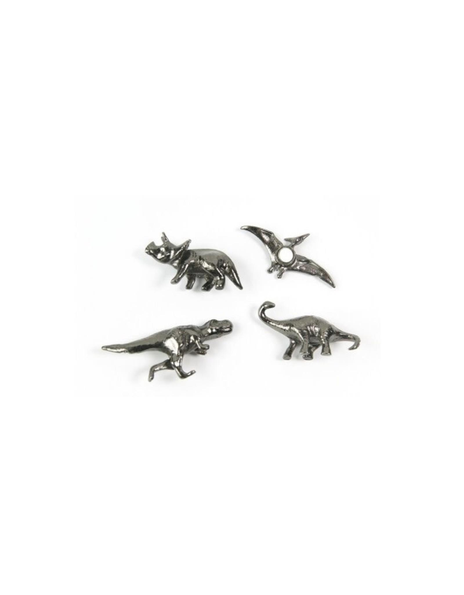 Abodee Magneet dino - 4st - zilver