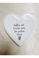 Sent and Meant Onderzetter - porselein - coffee and friends