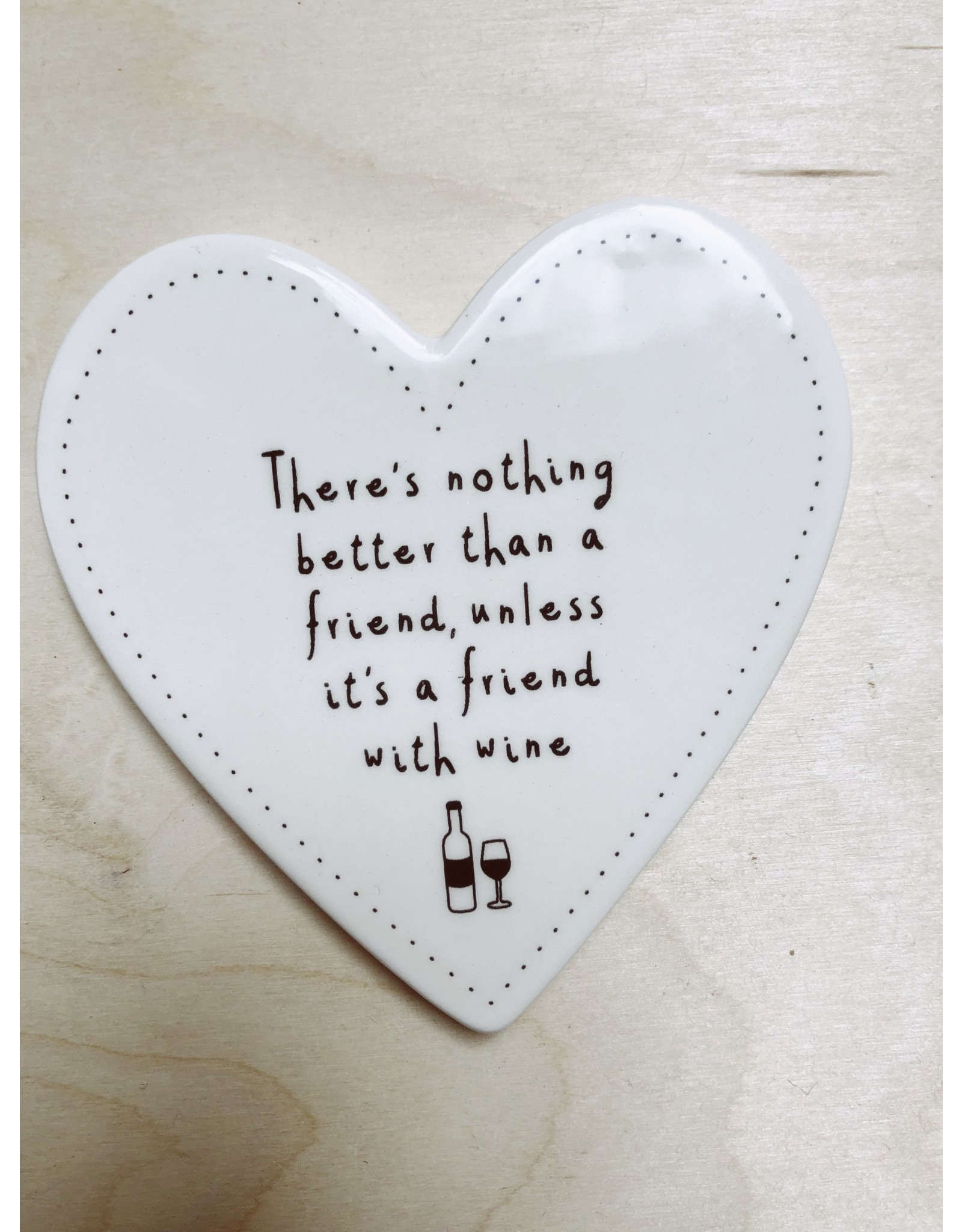 Sent and Meant Onderzetter - porselein - Friends with wine