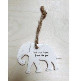 Sent and Meant Hanger Olifant - Porselein