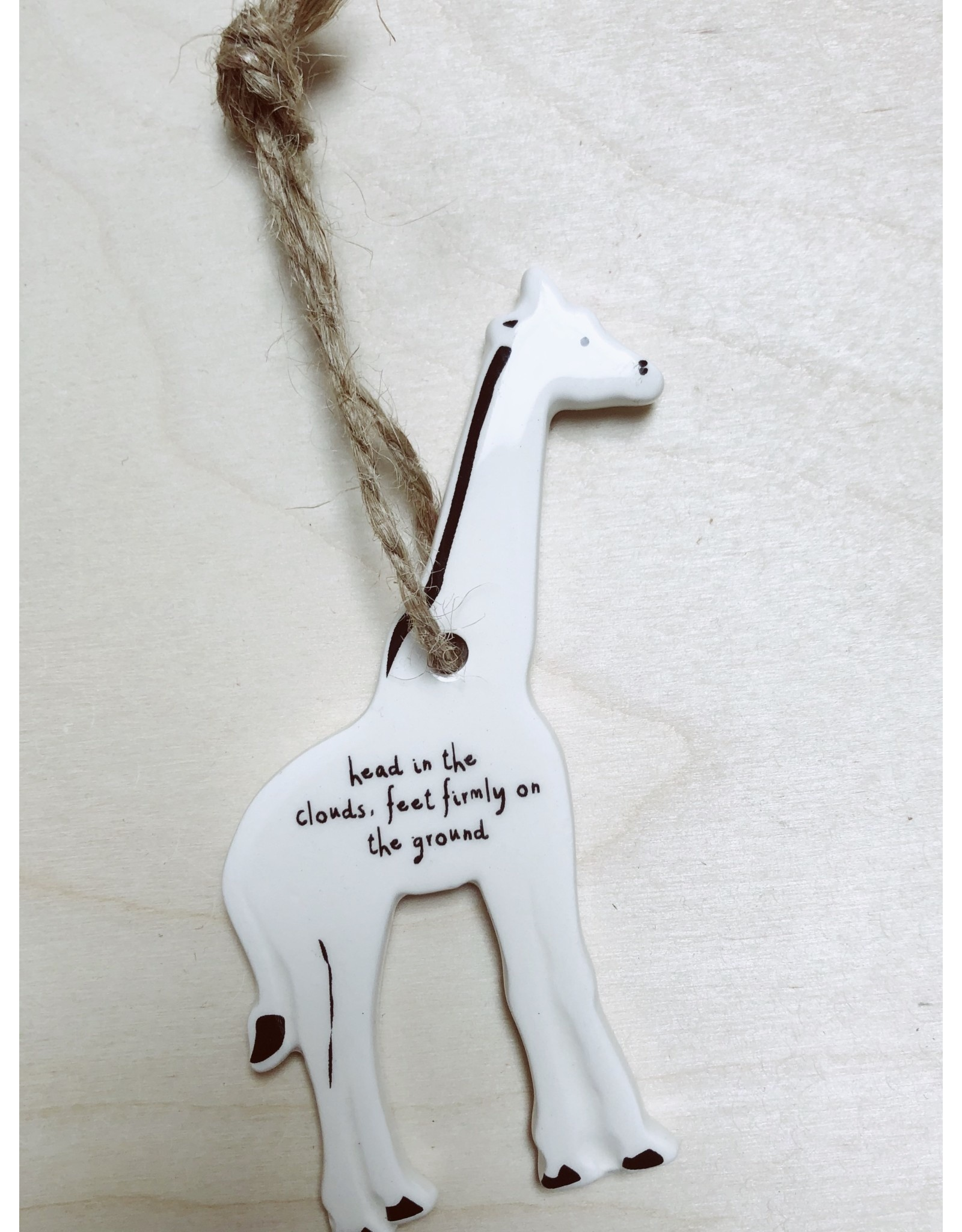 Sent and Meant Hanger - Porselein - Giraf