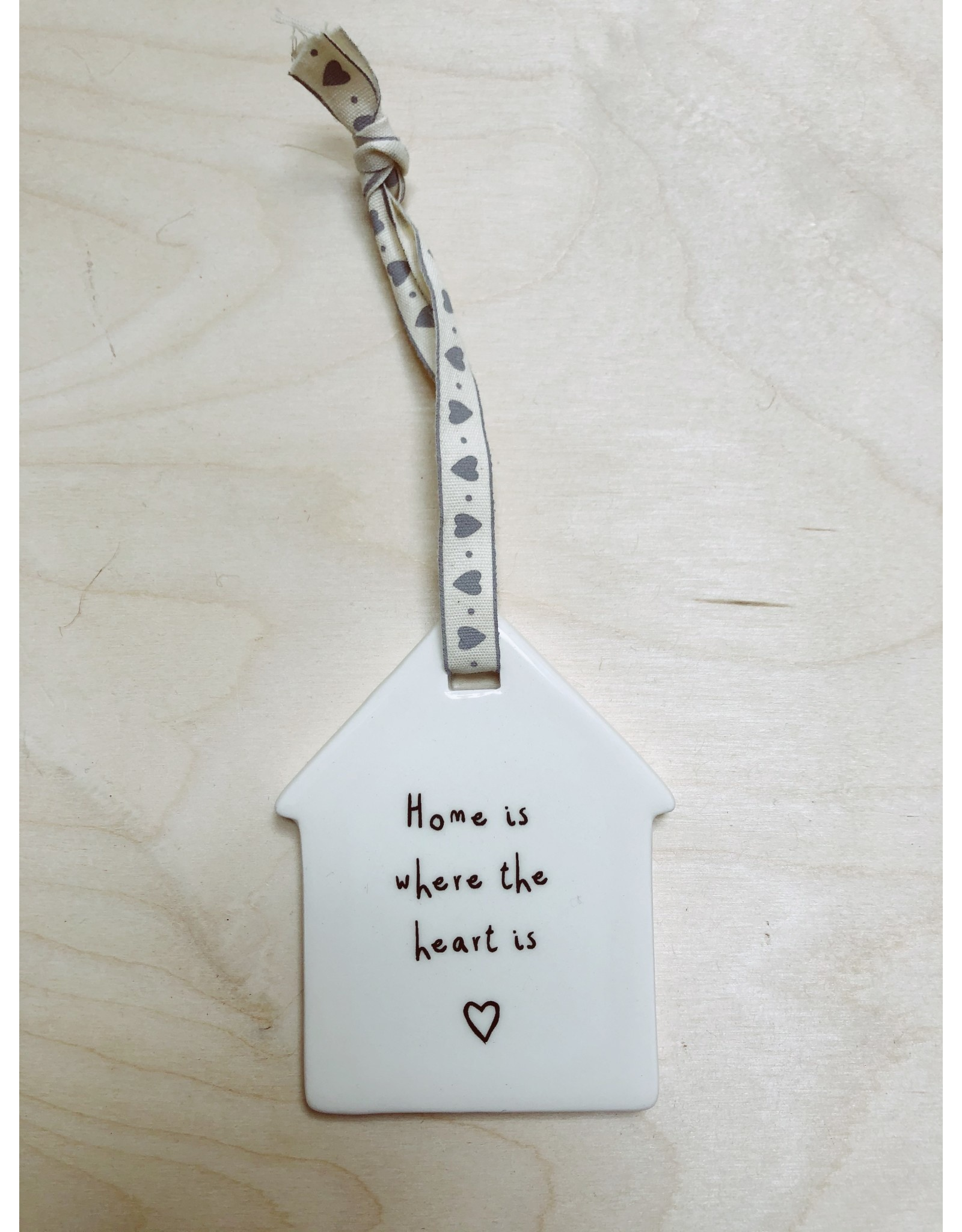 Sent and Meant Hanger - Porselein - Home is where the heart is