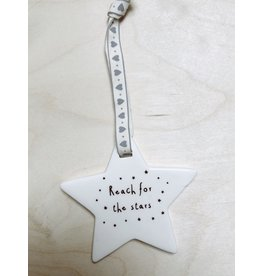 Sent and Meant Hanger Ster - Reach for the stars - 9 x 9 cm