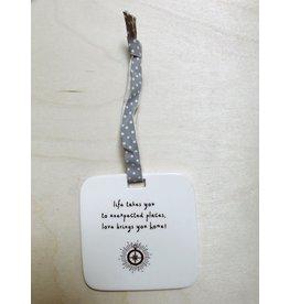 Sent and Meant Hanger Tegel  - Home - Porselein - 8 x 8 cm