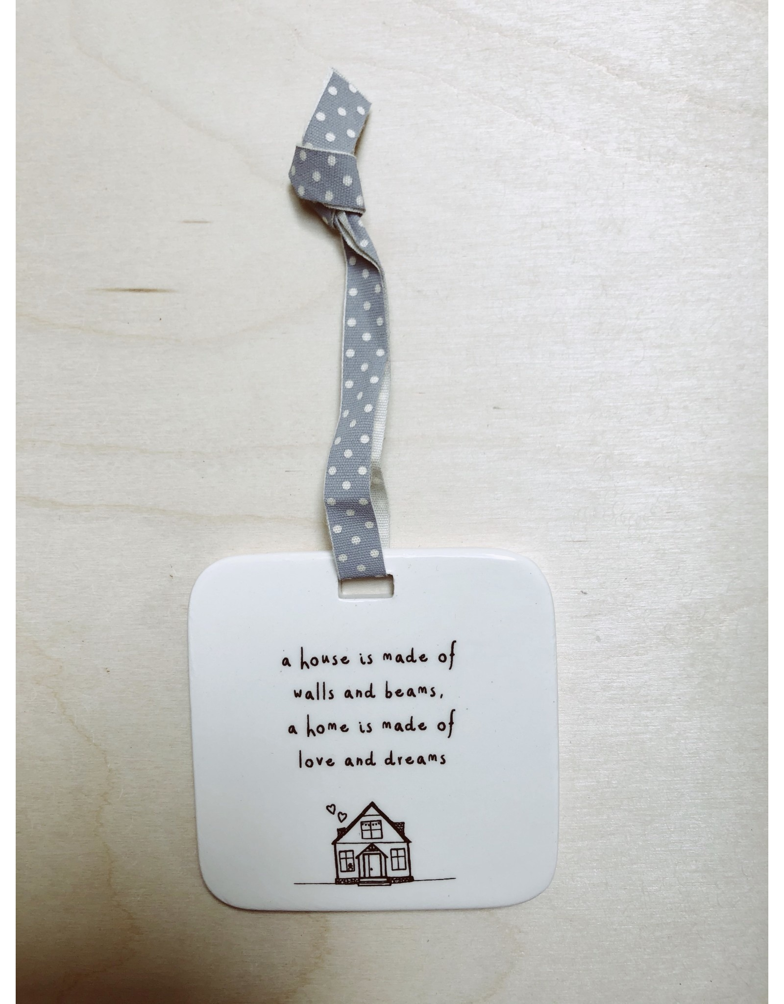 Sent and Meant Hanger - Porselein - House