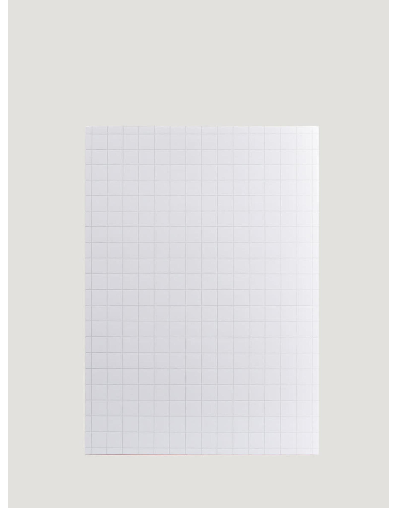 Le Typographe A5 notepad | geruit 1cm | wit | 75vellen