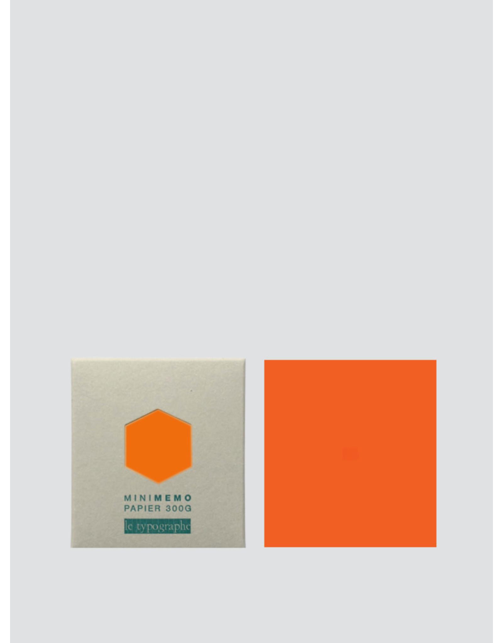 Le Typographe Mini Memo | Fluo oranje