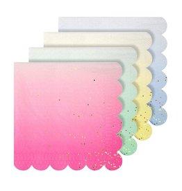 Meri Meri Serviettes | Multi met glitter | 16st | 13 x 13 cm