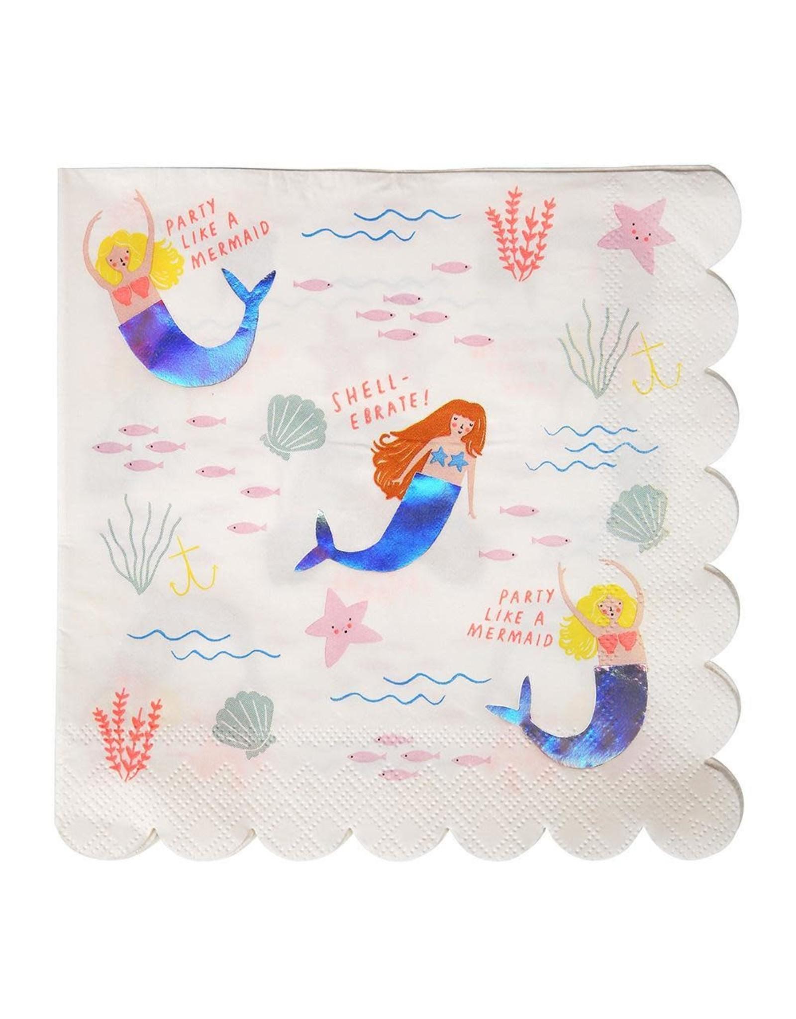 Meri Meri Serviettes | Zeemeermin | 16st | 13 x 13 cm