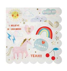 Meri Meri Serviettes | Unicorn | 16st | 13 x 13 cm