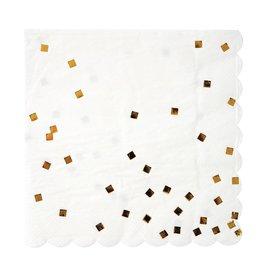 Meri Meri Servetten - Gouden vierkantjes - 16st - 16,5 x 16,5 cm