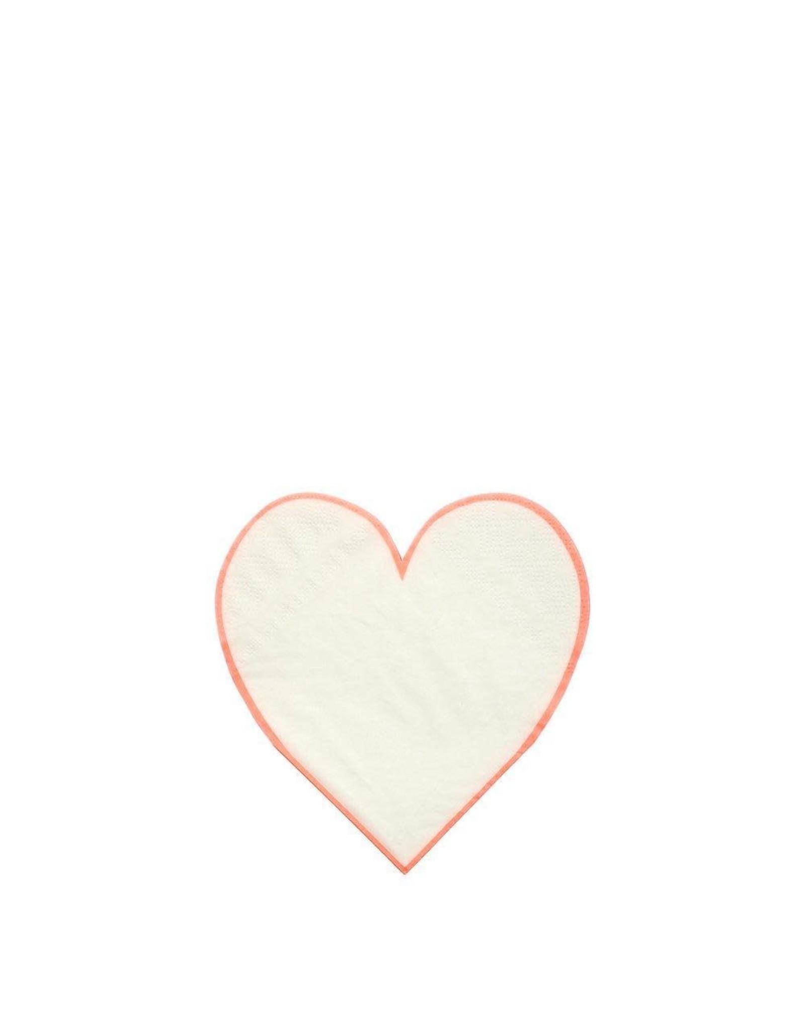 Meri Meri Serviettes | Hartje | 20st | 9 x 9 cm