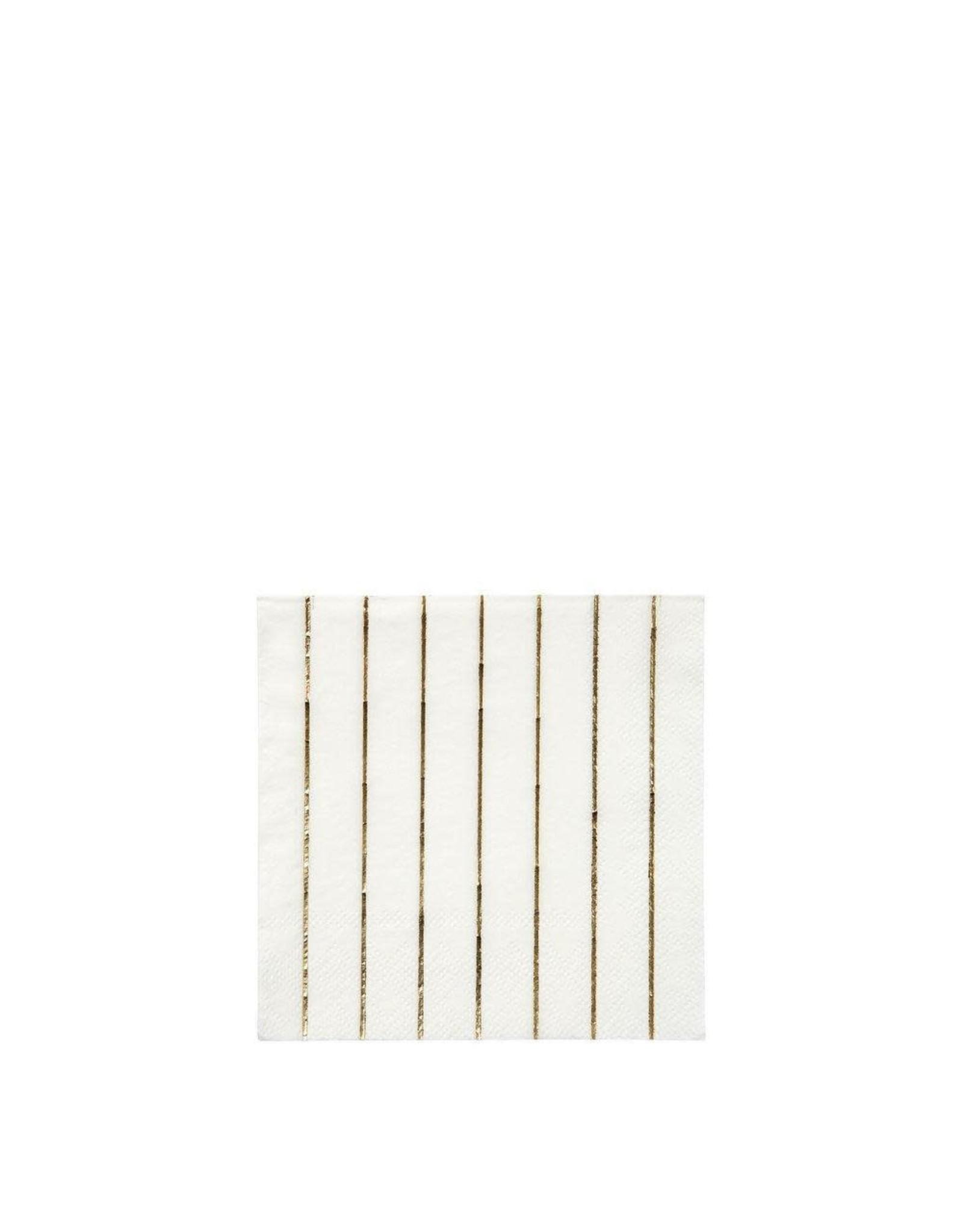 Meri Meri Serviettes | Gouden strepen | 16st | 10 x 10cm