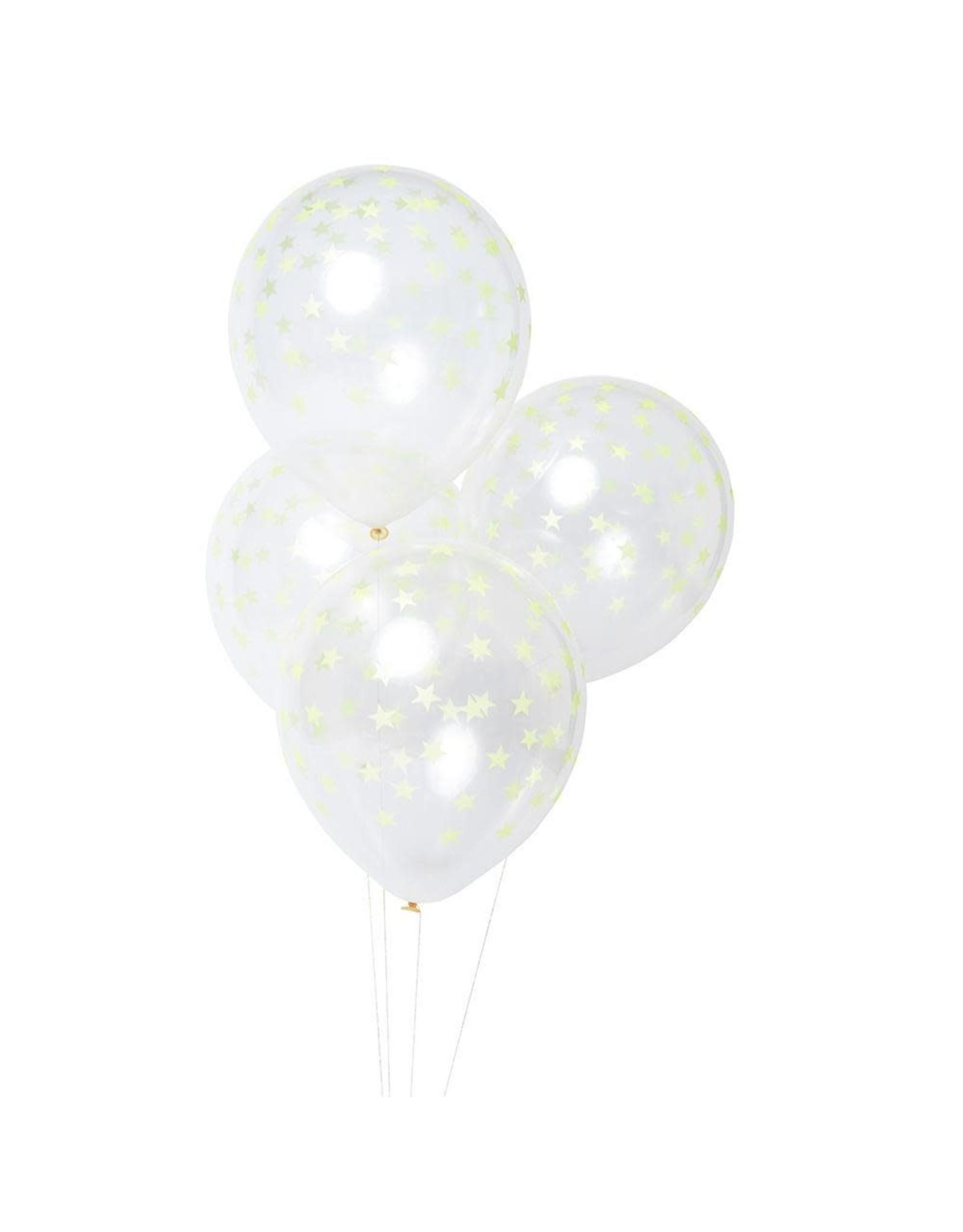 Meri Meri Ballonnen met sterpatroon - Multi - 8st