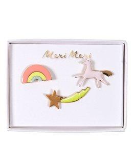 Meri Meri Enamel Pins   3st   Unicorn
