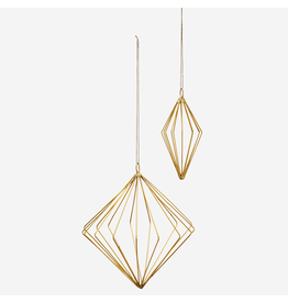 Madam Stolz Hanger Diamant - Goud - Groot