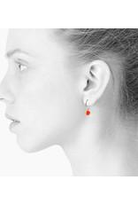 scherning Oorbel | Creolen dia 15mm | zilver | schijfje fluorood dia 9mm